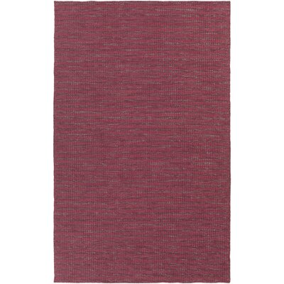 Walton Hand-Woven Wool Burgundy/Cherry Area Rug Rug Size: Rectangle 5 x 8