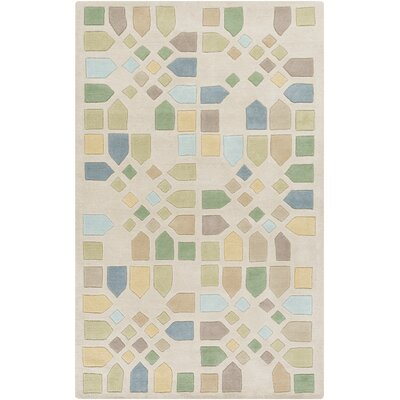 Abrielle Ivory Geometric Area Rug Rug Size: 5 x 8