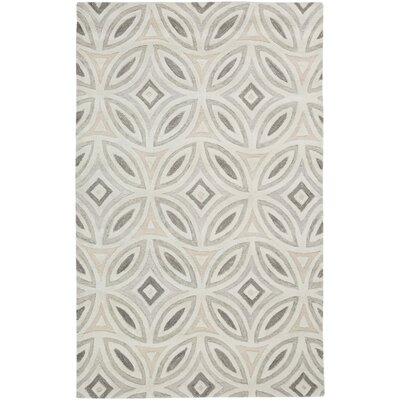 Quinn Geometric Beige/Light Gray Area Rug Rug Size: 33 x 53