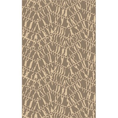 Mathews Hand-Loomed Beige/Slate Area Rug Rug Size: Rectangle 5 x 8