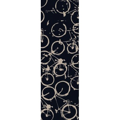 Bowers Hand-Tufted Black/Beige Area Rug Rug Size: Runner 26 x 8