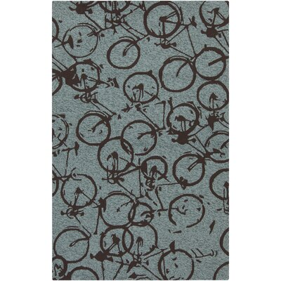 Boles Moss/Chocolate Indoor/Outdoor Area Rug Rug Size: 9 x 12