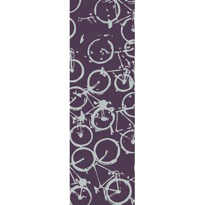 Peerpressure Eggplant/Slate Area Rug Rug Size: Runner 26 x 8