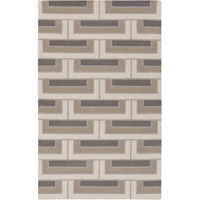 Durgan Beige/Taupe Geometric Area Rug Rug Size: Rectangle 5 x 8