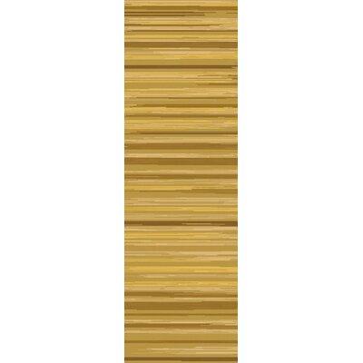 Westville Gold Rug Rug Size: Runner 26 x 8