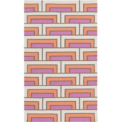 Durgan Geometric Wool Area Rug Rug Size: Rectangle 5 x 8