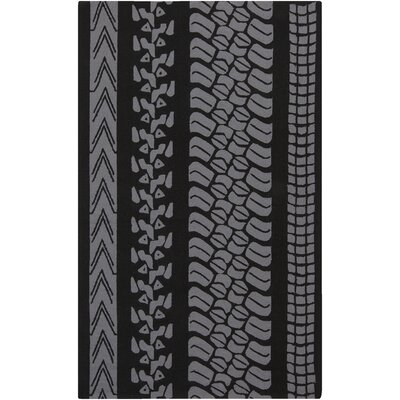 Boles Charcoal/Purple Indoor/Outdoor Area Rug Rug Size: Rectangle 9 x 12