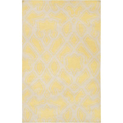 Massey Gold/Beige Area Rug Rug Size: Rectangle 2 x 3