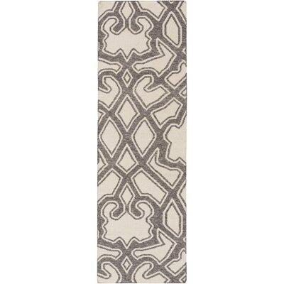 LaGrange Ivory/Charcoal Area Rug Rug Size: Runner 26 x 8