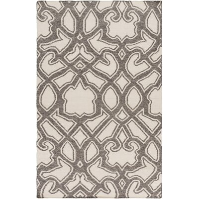 LaGrange Ivory/Charcoal Area Rug Rug Size: Rectangle 33 x 53