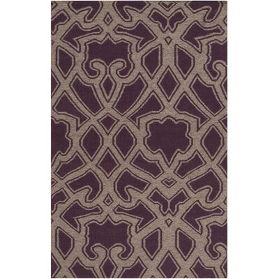 LaGrange Hand-Woven Gray/Purple Area Rug Rug Size: Rectangle 5 x 8