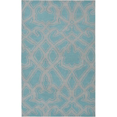 LaGrange Gray/Teal Area Rug Rug Size: Rectangle 2 x 3