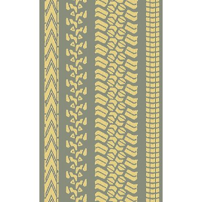 Pandemonium Gold/Moss Indoor/Outdoor Area Rug Rug Size: 5 x 8