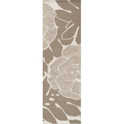 Abigail Olive/Light Gray Area Rug Rug Size: Runner 26 x 8
