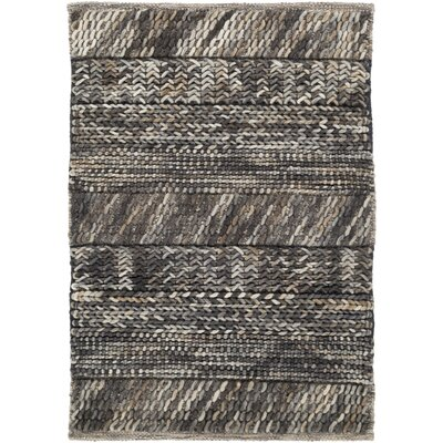 Shelton Hand Woven Wool Gray/Brown/Beige Area Rug Rug Size: Rectangle 8 x 10
