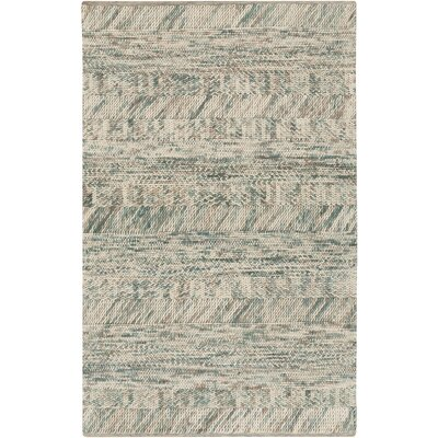 Shelton Sea Foam Teal Area Rug Rug Size: 2 x 3