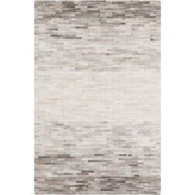 Harvey Hand Woven Cowhide Beige Area Rug Rug Size: Rectangle 8 x 10