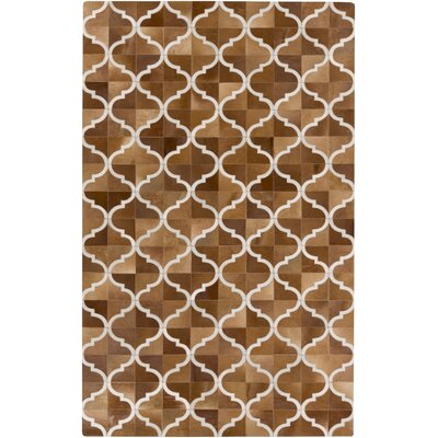 Georgianne Mocha/Tan Area Rug Rug Size: Rectangle 8 x 10