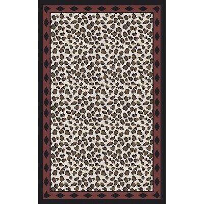 Marigold Ivory/Black Animal Print Area Rug Rug Size: Rectangle 5 x 8