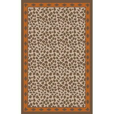 Marigold Animal Print Burnt Orange/Brrown Area Rug Rug Size: 5 x 8