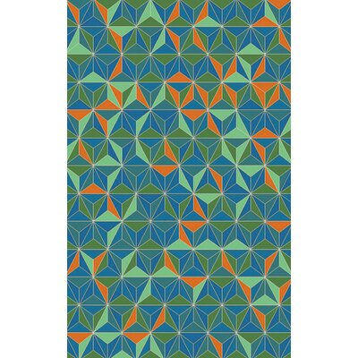 Denver Emerald/Aqua Area Rug Rug Size: Rectangle 5 x 8