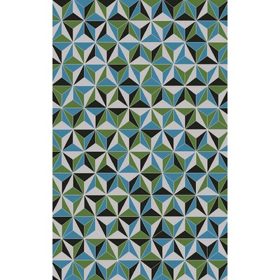 Denver Blue Area Rug Rug Size: Rectangle 2 x 3