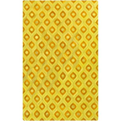 Denver Gold Area Rug Rug Size: Rectangle 2 x 3