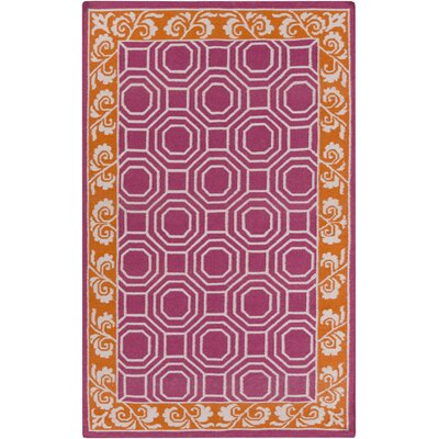 Morehead Magenta Geometric Area Rug Rug Size: Rectangle 8 x 11