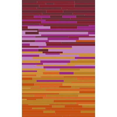 Denver Tangerine Area Rug Rug Size: Rectangle 2 x 3