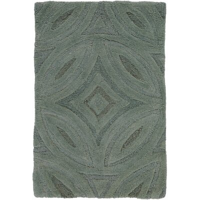 Quinn Green/Slate Gray Rug Rug Size: Rectangle 9 x 13