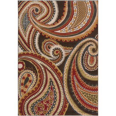 Mya Red Area Rug Rug Size: 53 x 76