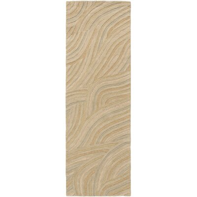 Perspective Hand Tufted Wool Beige Area Rug Rug Size: Runner 26 x 8