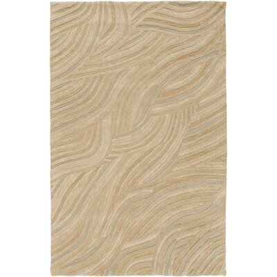 Perspective Hand Tufted Wool Beige Area Rug Rug Size: Rectangle 5 x 8