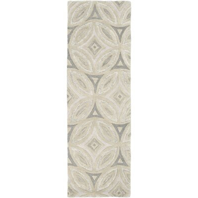 Quinn Beige/Light Gray Geometric Area Rug Rug Size: Runner 26 x 8