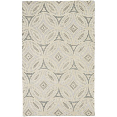 Quinn Beige/Light Gray Geometric Area Rug Rug Size: 5 x 8