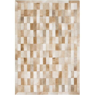 Harvey Hand Woven Cowhide Brown/Beige Area Rug Rug Size: Rectangle 5 x 8