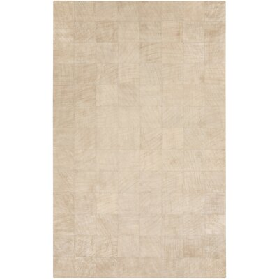 Harvey Beige Area Rug Rug Size: 5 x 8