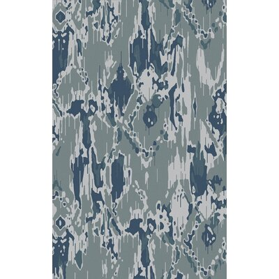 Harbor View Teal/Gray Area Rug Rug Size: 3'3