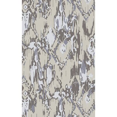 Harbor View Navy/Light Gray Area Rug Rug Size: 33 x 53