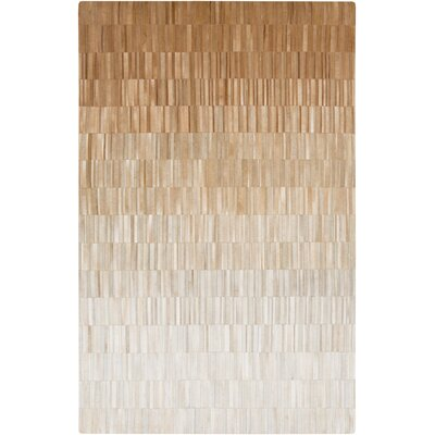 Harvey Light Gray/Tan Area Rug Rug Size: 5 x 8