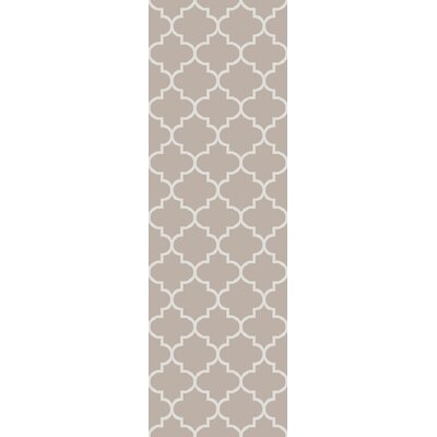 Palladio Hand-Woven Gray Area Rug Rug Size: Runner 26 x 8