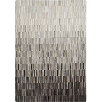 Harvey Light Gray/Black Area Rug Rug Size: 2 x 3