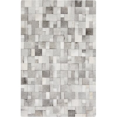 Harvey Hand Woven Cowhide Light Gray Area Rug Rug Size: Rectangle 8 x 10