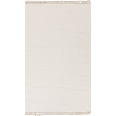 Embry Hand-Woven Neutral Area Rug Rug Size: Rectangle 5 x 76