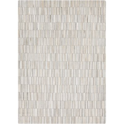 Harvey Hand Woven Cowhide White Area Rug Rug Size: Rectangle 8' x 10'
