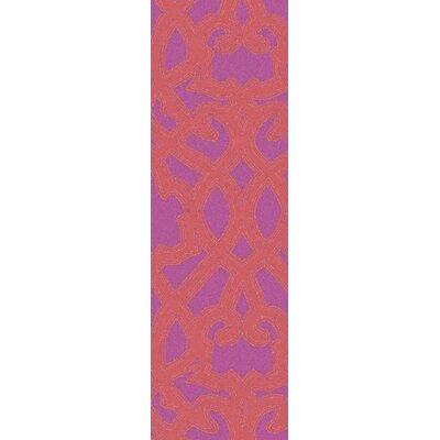 Hemel Rust/Magenta Area Rug Rug Size: Runner 26 x 8