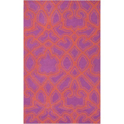 Hemel Rust/Magenta Area Rug Rug Size: Rectangle 33 x 53