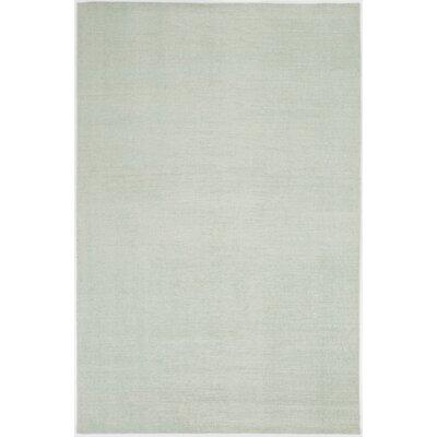Nostalgia Sea Foam Solid Area Rug Rug Size: 56 x 86