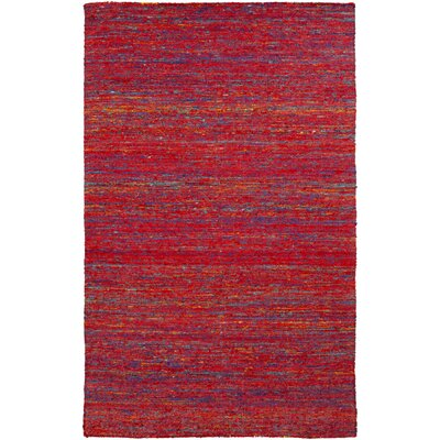 Bilski Poppy Red Area Rug Rug Size: 5 x 8
