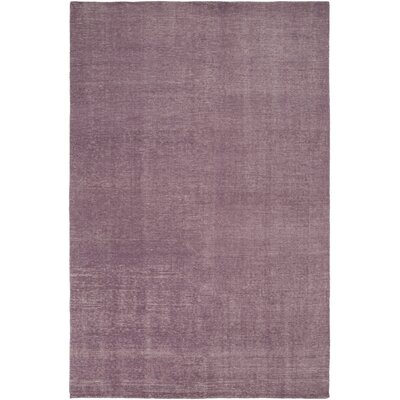 Eberly Mauve Solid Area Rug Rug Size: Rectangle 56 x 86